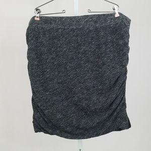 Lane Bryant Gray Mini Skirt
